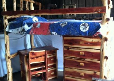 Bunk Bed-Cedar-Chest and Childs Desk