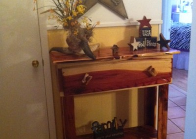 Cedar Table-Hall, Entry-1 Drawer