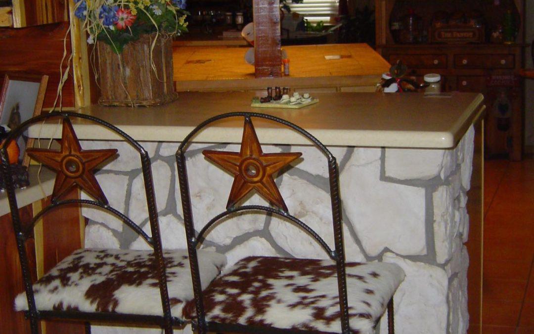 Bar Chair-Star Back-Cowhide Seat