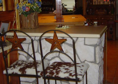 Bar Chair-Star Back-Cowhide Seat