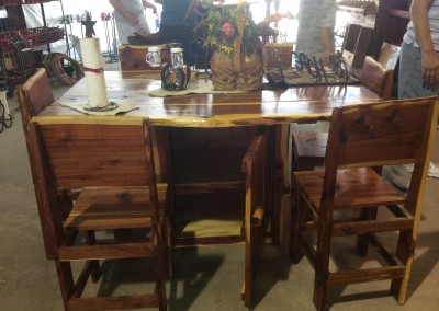 Cedar Dining Table-Storage & 6 Chairs