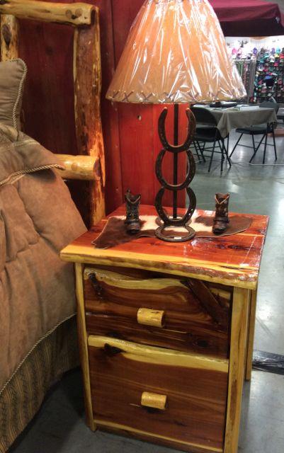 Side Table-Cedar;2 Drawer