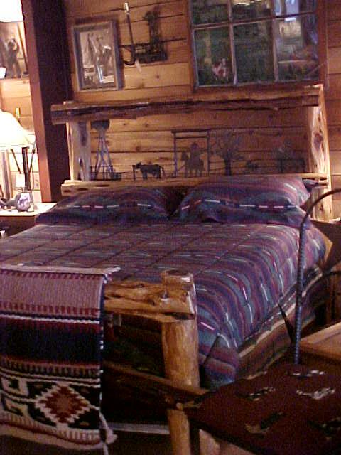 Bed-Cedar-Metal Cut Out Scene