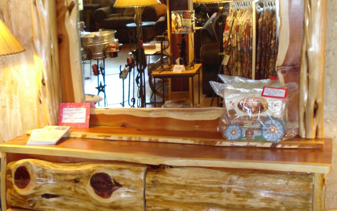Dresser Cedar Log Front
