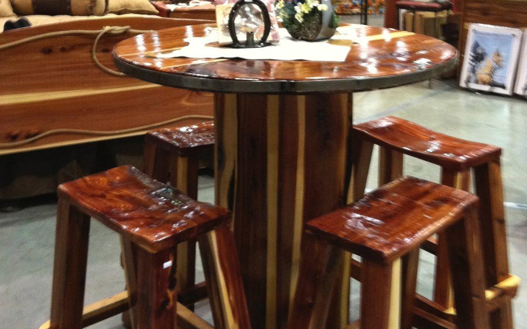 Bar Table-Cedar-Saddle Seat